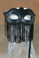 Belly Dancer Fringed Mask on Stick